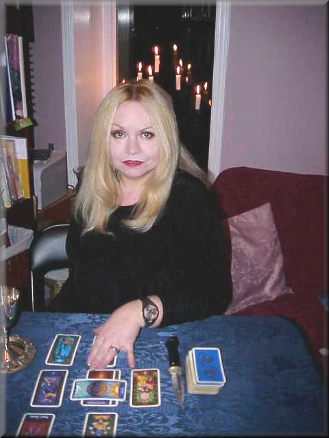 Anstria reading tarot cards